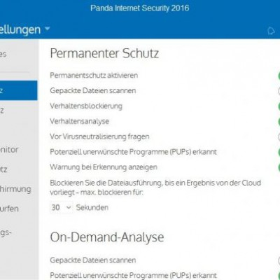 Panda Internet Security 2016 – Einstellungen