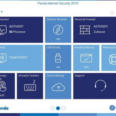 Panda Internet Security 2016 – Menü