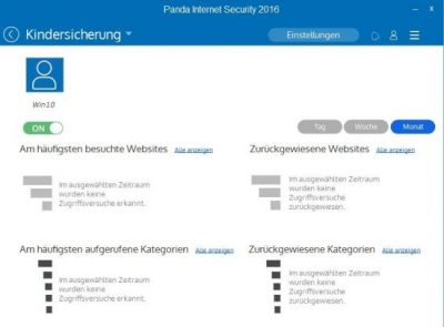 Panda Internet Security 2016 – Kindersicherung
